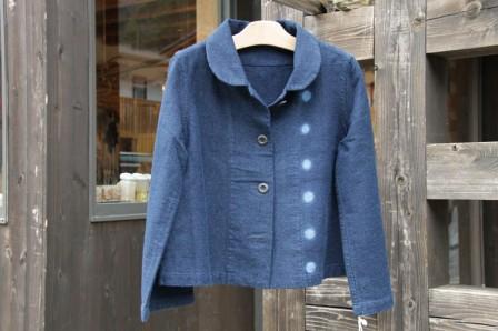 ショートジャケット 藍染計良 和歌山県 龍神村 アトリエ 作家