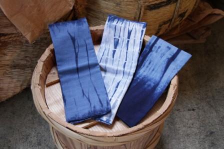 てぬぐい 藍染計良 龍神村 アート 作品 絞り染め