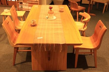 栃ダイニングテーブル G.WORKS 和歌山県 龍神村 木工