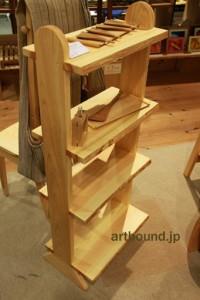 ひのきミニシェルフ G.WORKS 龍神温泉 アート 木工